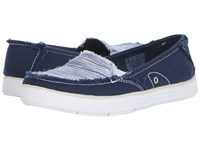Dr. Scholl's Waverly Navy Canvas Harmony Women's Lace Up Casual Shoes Blue