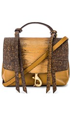 Rebecca Minkoff Stella Medium Convertible Backpack In Brown. Nutmeg