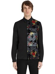 Mcq By Alexander Mcqueen Printed Overlay Loose Poplin Shirt