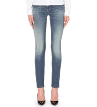 Armani Jeans J23 Push Up Skinny Mid Rise Jeans Denim