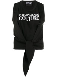 Versace Jeans Couture Tied Hem Logo Tank Top 60