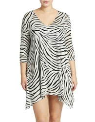 J Valdi Plus Zebra Pattern Coverup