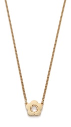 Marc By Marc Jacobs Logo Daisy Pendant Necklace Oro