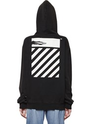 Off White Don't Move Hooded Cotton Sweatshirt