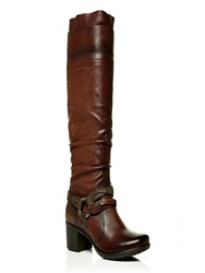 Moda In Pelle Jovena Medium Casual Long Boots Brown