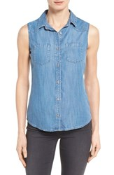 Women's Mavi Jeans 'Alena' Sleeveless Tencel Denim Shirt
