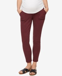 A Pea In The Pod Maternity Twill Skinny Leg Pants Red