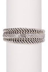 Lois Hill Sterling Silver Figure 8 Tapered Granulated End Bracelet Metallic