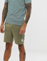 French Connection Script Logo Jersey Shorts Green