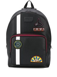 Bally Multi Patch Stripe Detail Backpack 60