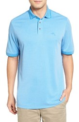 Tommy Bahama Men's 'Little Zig Zag' Short Sleeve Polo Download Blue