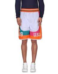 Undefeated Trousers Bermuda Shorts Men White