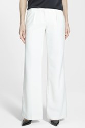 Halogen 'Quinn' Wide Leg Pants White