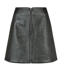 Maje Juna Embossed Vinyl Zip Skirt Female Black