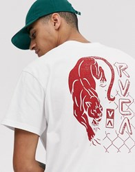 Rvca Powler Printed T Shirt In White