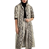 Philosophy Di Lorenzo Serafini Python Print Belted Trench Coat Multi