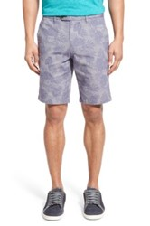 Ted Baker 'Erupten' Print Stretch Cotton Shorts Blue