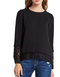 Bcbgeneration Long Sleeve Lace Top Black