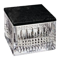Waterford Lismore Crystal Box With Marble Lid Diamond