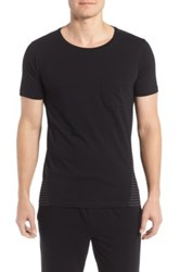 Naked Essential Stretch Cotton T Shirt Black