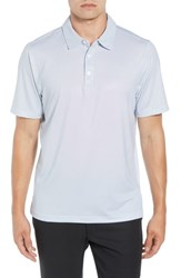 Cutter And Buck Harbor Print Drytec Moisture Wicking Polo White
