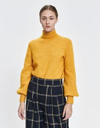Just Female Theo Mohair Knit In Golden Yellow