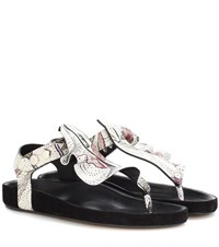Isabel Marant Leakey Leather Sandal Multicoloured