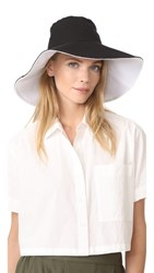 Hat Attack Canvas Reversible Sunhat Black White