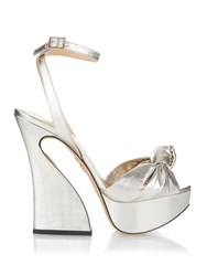 Charlotte Olympia Vreeland Lame Knotted Sandals