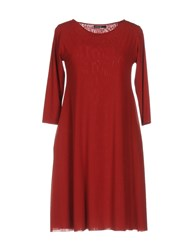 Almeria Short Dresses Brick Red