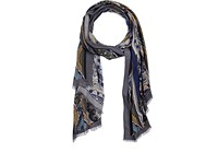 Colombo Men's Paisley Cashmere Silk Scarf Blue