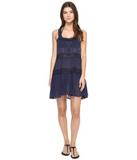 Polo Ralph Lauren Lace Cotton Laced Dress Cover Up Rivieria Navy Women's Swimwear