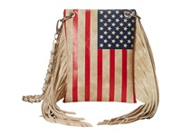 Mandf Western Flag Fringe Crossbody Multi Cross Body Handbags