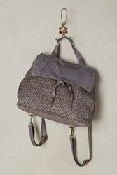 Anthropologie Jasa Woven Backpack Grey
