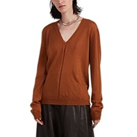 Rick Owens Cashmere V Neck Sweater Rust