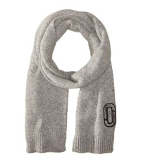 Marc Jacobs Classic Cashmere Scarf Grey Scarves Gray