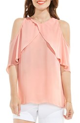 Vince Camuto Women's Cold Shoulder Ruffled Blouse