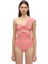Marysia Venice One Shoulder Swimsuit Pink
