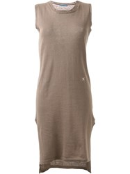 Guild Prime Side Slit Fitted Knitted Dress Brown