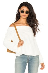 525 America Off Shoulder Sweater White