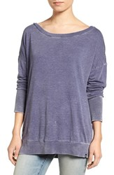 Treasure And Bond Women's Slouchy Sweatshirt Navy Dusk