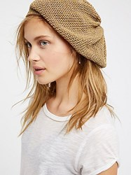 Free People Metallic Knit Slouchy Beret