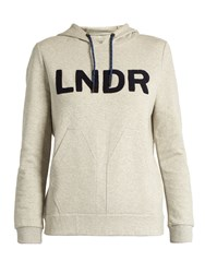Lndr College Cotton Blend Performance Hooded Sweatshirt Grey