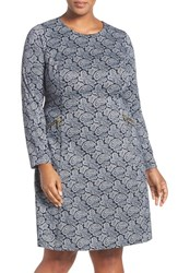 Michael Michael Kors Plus Size Women's Paisley Long Sleeve Fit And Flare Dress