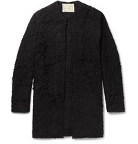 By Walid Alex Crocheted Cotton Coat Black