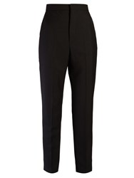 Balenciaga Straight Leg Tuxedo Trousers Black