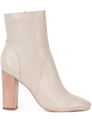 Derek Lam 10 Crosby Zipped Ankle Boots Nude Neutrals