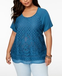 Eyeshadow Trendy Plus Size Lace Front Top Deep Dive