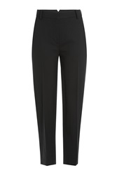 Donna Karan New York Cropped Wool Trousers Black