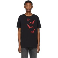 Off White Black And Red Bats Slim T Shirt